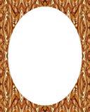 Fond blanc de cadre de cercle avec les frontières décorées Photo stock