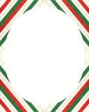 Fond blanc de cadre de cercle avec les frontières décorées de conception illustration de vecteur