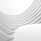 Fond blanc de circulaire d'architecture Conception moderne de construction Photographie stock libre de droits