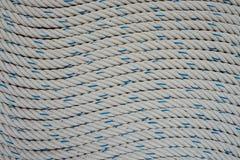 Fond blanc de corde Photo libre de droits