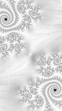 Fond blanc de fractale - image digitalement produite illustration de vecteur
