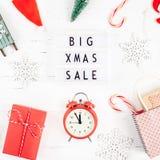 Fond blanc de grand de Noël de vente lightbox des textes images libres de droits