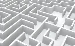 Fond blanc de labyrinthe Photos stock