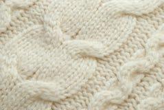 Fond blanc de laines Images libres de droits