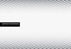 Fond blanc de modèle de calibre de résumé de plancher carré gris de perspective avec l'espace de copie Formes géométriques illustration de vecteur