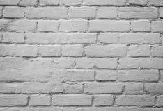 Fond blanc de mur de briques Images stock