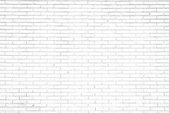 Fond blanc de mur de briques dans la chambre rurale, photos stock