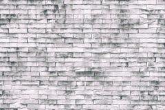 Fond blanc de mur de briques dans la chambre rurale Tracez l'utilisation de mur de style pour le fond ou la texture image libre de droits