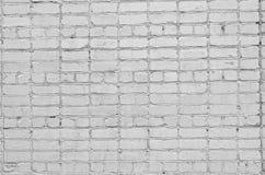 Fond blanc de mur de briques Texture d'un mur en pierre Mur de briques teint dans la couleur blanche Photo stock