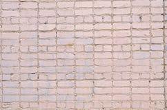 Fond blanc de mur de briques Texture d'un mur en pierre Mur de briques teint dans la couleur blanche Images libres de droits