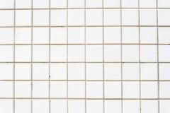 Fond blanc de mur de tuile Photographie stock