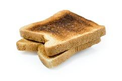 Fond blanc de pain de sandwich brûlé par obscurité : Chemin de coupure inclus Photographie stock libre de droits