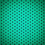 Fond blanc de point de polka de bleu de turquoise textur sale de vintage Image libre de droits