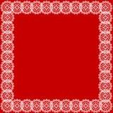 Fond blanc de rouge de lacet Image stock