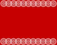 Fond blanc de rouge de lacet Photographie stock libre de droits
