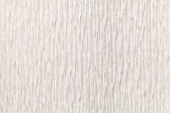 Fond blanc de texture de papier ondulé onduleux, plan rapproché Images libres de droits
