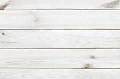 Fond blanc de texture de planche en bois Photos libres de droits