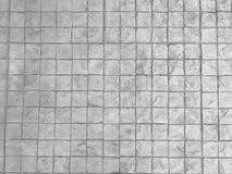 Fond blanc de trottoir de pierre de texture Mur carré de bloc de brique photographie stock libre de droits