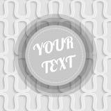 Fond blanc des vagues abstraites Modèle sans couture avec l'illustration ronde minimale d'actions de conception de zone de texte Photographie stock