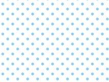 Fond blanc du vecteur Eps8 avec les points de polka bleus Photo libre de droits