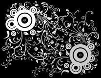 Fond blanc et gris abstrait Illustration Libre de Droits