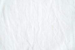 Fond blanc froissé de texture de tissu de coton, papier peint photographie stock