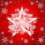 Fond blanc grunge d'étoile Image stock