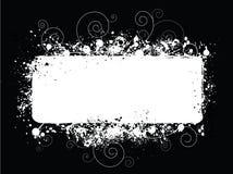 Fond blanc noir de grunge de Splat Image libre de droits