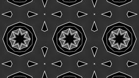 Fond blanc noir de kal?idoscope de maille polygonale rendu 3d illustration libre de droits