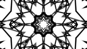 Fond blanc noir de kal?idoscope de maille polygonale rendu 3d illustration de vecteur