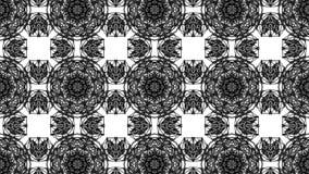 Fond blanc noir de kal?idoscope de maille polygonale rendu 3d illustration stock