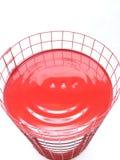 Fond blanc rouge de sourire photographie stock libre de droits