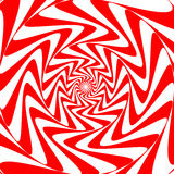 Fond blanc rouge de vortex d'abrégé sur remous Papier peint psychédélique illustration libre de droits