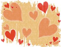 Fond blanc rouge grunge de coeur illustration libre de droits