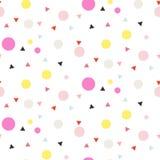 Fond blanc sans couture de vecteur de confettis Photo libre de droits