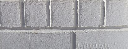 Fond blanc texturisé de brique Photographie stock libre de droits