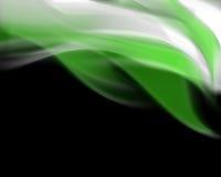 Fond blanc vert de flamme Photo stock