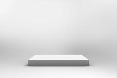 Fond blanc vide de cube Images stock