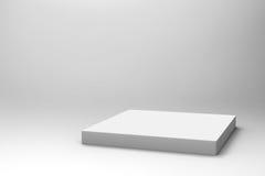 Fond blanc vide de cube Photographie stock