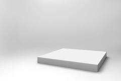 Fond blanc vide de cube Photographie stock libre de droits