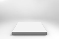 Fond blanc vide de cube Photos stock