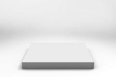 Fond blanc vide de cube Photo libre de droits