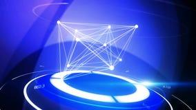 Fond bleu abstrait avec des données de la science illustration de vecteur