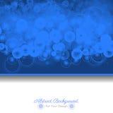Fond bleu abstrait avec des formes rondes Illustration de Vecteur