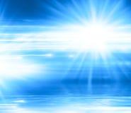 Fond bleu abstrait avec des lignes et des rayons Photos libres de droits