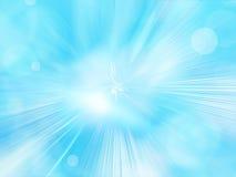 Fond bleu abstrait avec des particules Image stock