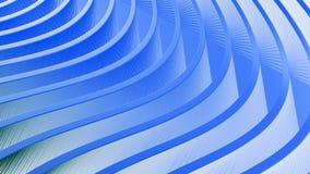 Fond bleu abstrait avec l'écoulement onduleux Images libres de droits