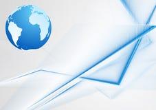 Fond lumineux de vecteur avec le globe Photos stock