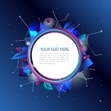 Fond bleu abstrait avec les éléments géométriques Image libre de droits
