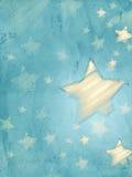 Fond bleu abstrait avec les étoiles rayées, verticales illustration de vecteur